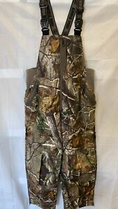 Game Winner Men's Realtree AP Insulated Coveralls Camo Hunting Bibs Overalls - L