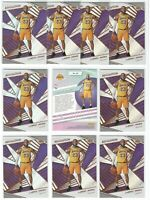 x10 LEBRON JAMES 2018-19 Revolution Basketball Card lot/set All in Lakers Jersey