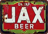 """Jax Beer on Tap Vintage Rustic Retro Metal Sign 8"""" x 12"""""""