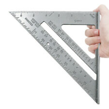 "Triangle Ruler Aluminum Alloy Speed Square Woodworking Measuring Tool 7"" SAN"