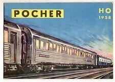 catalogo  trenini     pocher   rivarossi   1958