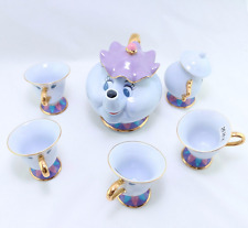 Beauty And The Beast Tea Set [1 Pot +4 Cups +1 Sugar Bowl ] Mrs Potts Chip Gift