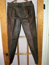 Valentino Brown Leather Men's Pants, Size 33 European