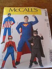 """PATRON  """"McCALL'S COSTUMES DE SUPER SUPER HEROS ... S A XL N° 7002"""