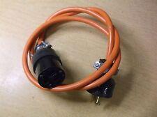 "Orange 3-Prong 15A 125V Cord 3'9"" long *Free Shipping*"