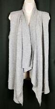 Halogen Gray Draped Sweater Cardigan Waterfall Wool Cashmere Blend Medium