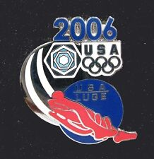 Torino 2006 Winter Olympic Games rare USA NOC Olympic LUGE Team Blue Limited pin
