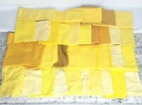 VINTAGE Yellow NAPKIN LOT SETS SINGLES CRAFTS TABLE DECOR retro crafting craft