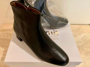 BRAND NEW SUMMIT BY WHITE MOUNTAIN JORDIE BLACK LEATHER ANKLE BOOTS SZ 38M