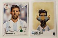 Lionel Messi Panini #288 & Tschutti Heftli #189(RARE)  - World Cup 2018
