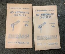 2 Packages of Vintage Roundhouse HO Automatic Couplers Model Die Casting