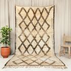 Vintage Soft Moroccan Area rug 10.7x5.7Ft Very Living Room Oriental Ivory Carpet