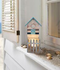 Windlicht Strandhaus maritim Holz Laterne Kerzenhalter Teelichthalter Sommerdeko
