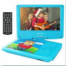 "DBPOWER 9"" Portable-DVD Player for Kids, Swivel Screen (Blue)"