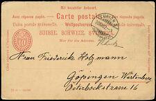 Switzerland 1902, 10c Stationery Card Zurich #C19101