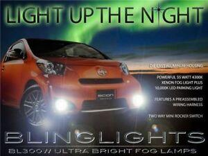 Scion iQ Xenon Fog Lamps Driving Lights Kit 2013 2014 2015 Foglamps Foglights