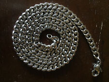 """22.5"""" Pure Solid 950 PLATINUM Necklace 6mm CUBAN CHAIN Heavy 93g"""