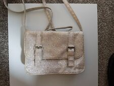 Girls Marks and Spencer Silver with gold specs Handbag
