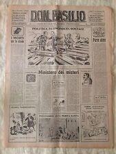 Don Basilio n.4 - 22 gennaio 1950 settimanale satirico d'opposizione
