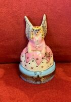 Rochard Limoges France Tooth Fairy Porcelain Box For Baby Teeth