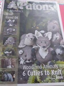 Patons book 3973 six woodland animals   knitting  patterns  book 2