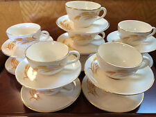 Homer Laughlin Golden Wheat 22K gold  Cups and Saucers