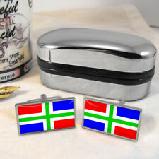 Groningen Flag Mens Gift Cufflinks Netherlands
