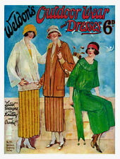Weldon's 6D #25 c.1920's Vintage Patterns in Knitting & Crochet Ladies Dresses