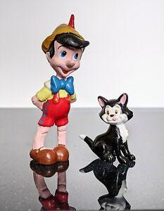 Vintage Pinocchio Figure By Applause & Figaro Disney Cat