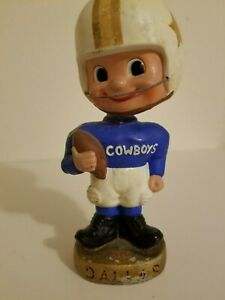 Rare Toes Up 1962 Nodder NFL Dallas Cowboys Bobblehead