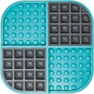 Lickimat Slomo Turquoise- Treat mat and slow feeder for dogs and cats