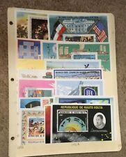 Burkina Faso Used Souvenir Sheet Lot