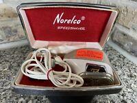 Vintage Norelco Double Head Speedshaver Model SC7870 Electric Razor Tested Works