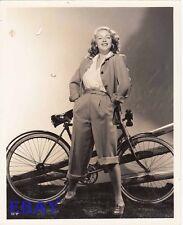 Lana Turner w/bike VINTAGE Photo