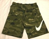Mens Nike Camo Shorts French Terry Camouflage AQ0602 325 Size Medium