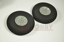 On Sale 2PCS 25x11mm Plastic Hub Sponge Tail Wheel For RC Airplane Good Quality