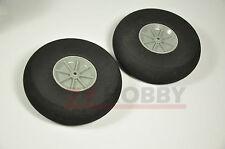 On Sale 2PCS 25x11mm Plastic Hub Sponge Tail Wheel For RC Airplane Good Quality