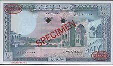 Lebanon , 100 Lira  , 25.8.1983 , P 66cs , De La Rue Specimen # 094 , Rare