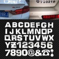 40Pcs DIY 3D Chrome Emblem Stickers Alphabet Letter Number Symbol Badge Decal ~