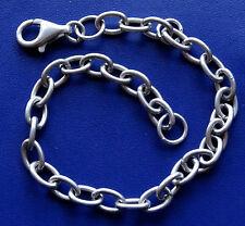 VINTAGE 925 Argento Sterling 8 G 6 mm WIDE CATENA Bracciale adatto per ciondoli-C802