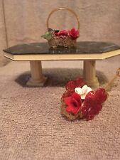 miniature dollhouse furniture 1/12 scale Dining Room Table Flower Arrangement