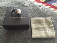 BOTTEGA VENETA agate and sterling intrecciato ring, size 6.5