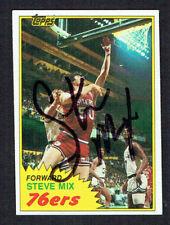 Steve Mix #E92 signed autograph auto 1981-82 Topps Basketball Trading Card