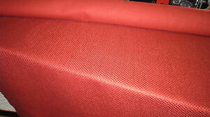 Upholstery Fabric Tweed Cotton Mix Dark Red Marron Burgundy 3m Roll Campers Boat