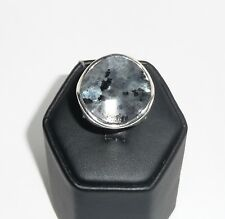 Silpada Wavy Black Gray Feldspar .925 Sterling Silver Ring Retired R1875 Size 7