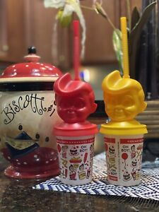 Big boy kids cold cup Two Cups Red N Yellow Pairs