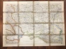 1942s Vintage Ukraine Map Original Russia Soviet Ussr Union Central Old Wwii Ww2