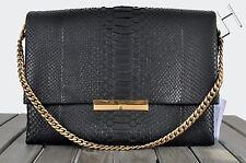 CELINE PARIS 4990$ New Black Python Leather Blade Chain Shoulder Cross Body Bag
