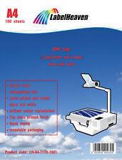 100  OHP Folien Kopierfolie Kopierfolien Overheadfolie für s/w Laserdrucker