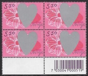 Norway 2003 St. Valentine's Day Block - 22 NOK, Sc #1360 MNH - cw67.16